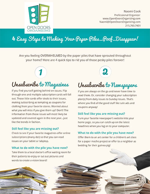 How to make your paper piles disappear