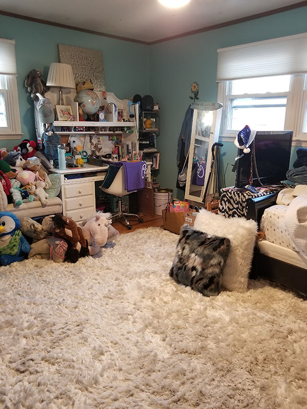 Teen Bedroom Organization Before