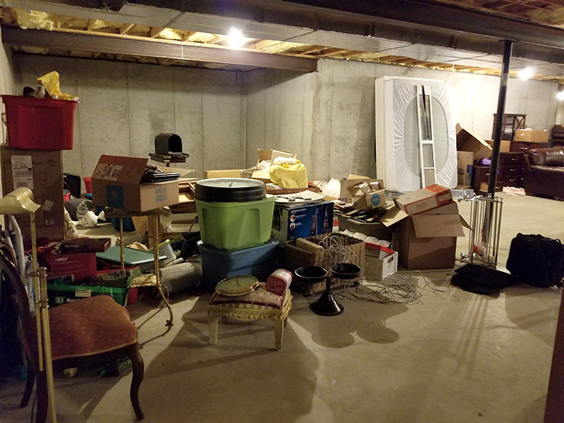 Basement Organization Before