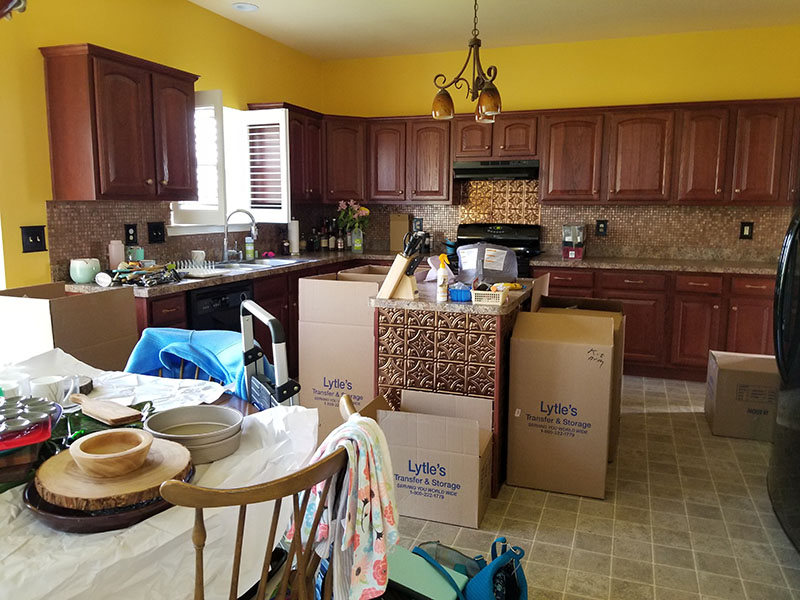Kitchen Move-In Organization