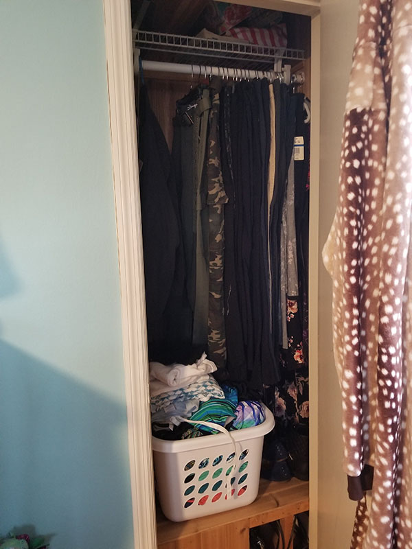 Teen Bedroom Closet Organization After