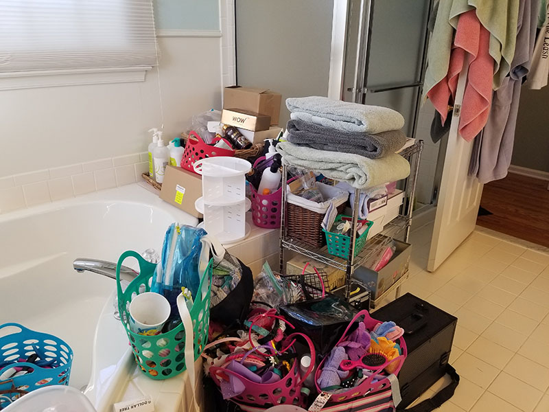 Bathroom Organization Before 2