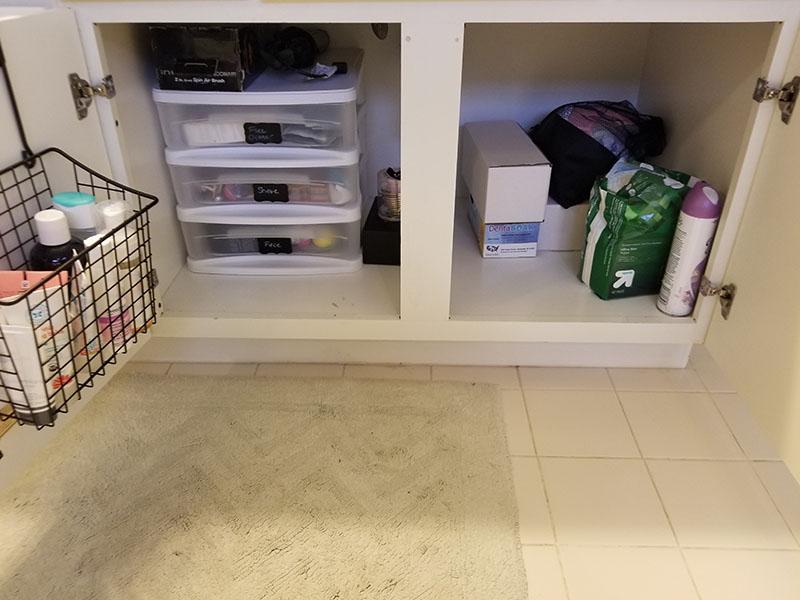 Bathroom Cabinet Organization After 4