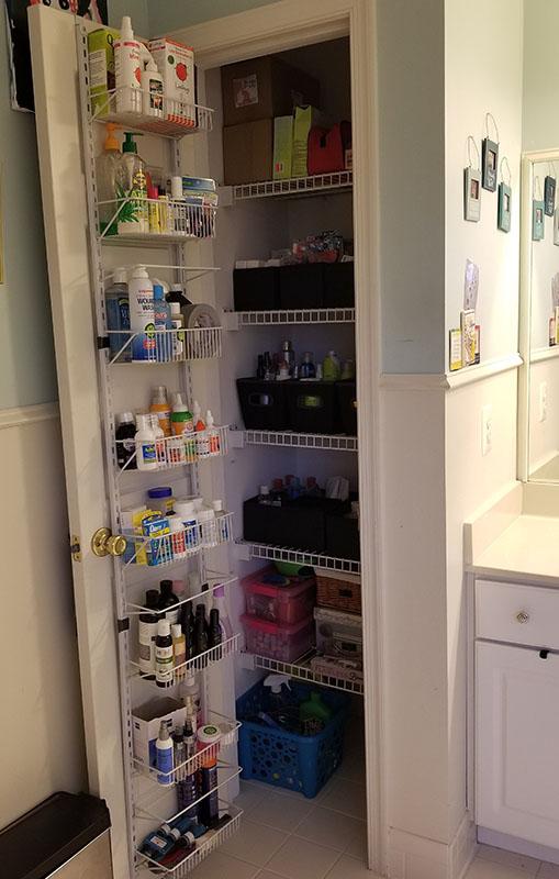 Bathroom Closet Organization After